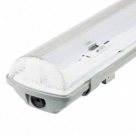 [Ibérica de Iluminación]Pantalla estanca para dos tubos de LED IP65 150cm