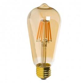 Bombilla LED Filamento Vintage 7W E27 Gold ST64 - Dimmable