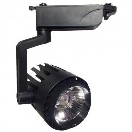 Foco LED 30W NORA Negro Carril Monofásico