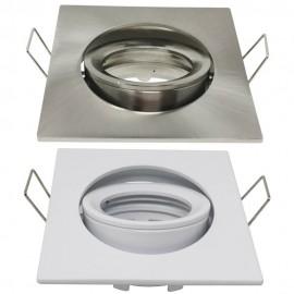 Aro Cuadrado Orientable para dicroica LED GU10 MR16 - 84mm - Aluminio