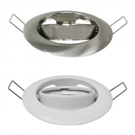 Aro Redondo Orientable para dicroica LED GU10 MR16 - Ø90mm - Acero