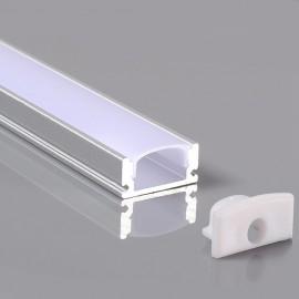 Perfil 2 metros Aluminio - U - para LED