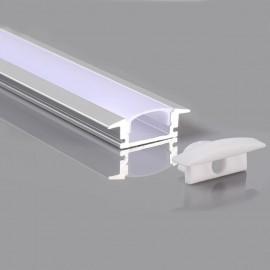 Perfil 2 metros Aluminio - Alas- para empotrar