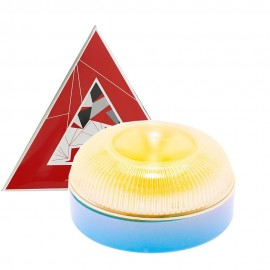 Luz de Emergencia LED V16 para Vehículos IP65 - Homologada DGT + Base Magnética (Batería Incluida)