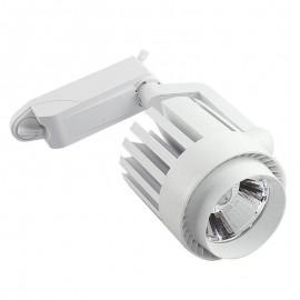 [Ibérica de Iluminación]Foco LED 30W NORA Blanco para Carril Monofásico 35º