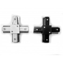 Conector tipo X  para Carril Monofásico REFORZADO