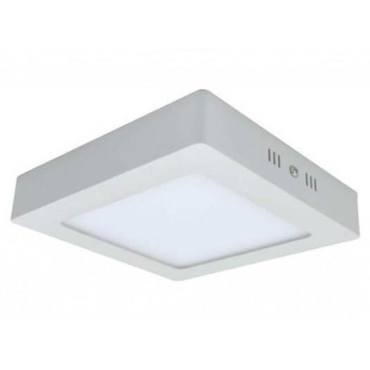 [Ibérica de Iluminación]Plafón LED Superficie Cuadrado Blanco 20W 120º - IP20 Interior