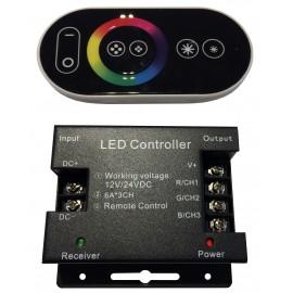 Controladora RGB para tiras LED  216W DC 12-24V 6A*CH