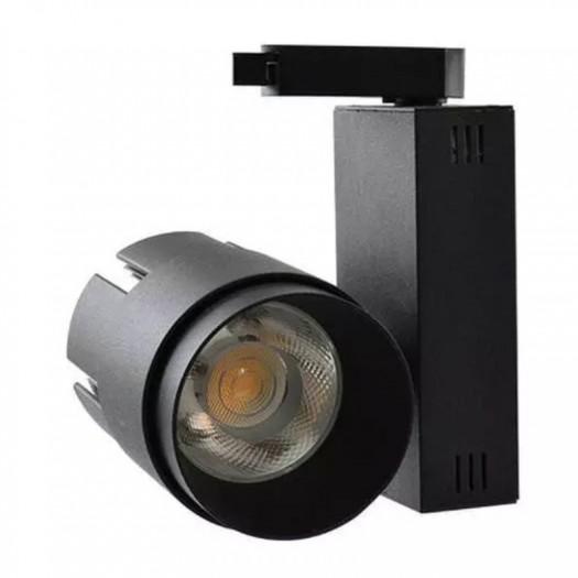 [Ibérica de Iluminación]Foco LED 35W LARA Negro  para Carril Monofásico 24º