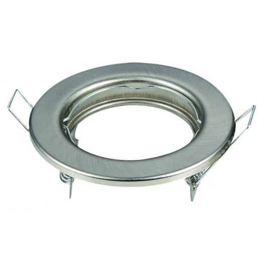 [Ibérica de Iluminación]Aro plata envejecida circular para dicroica LED GU10 - MR16