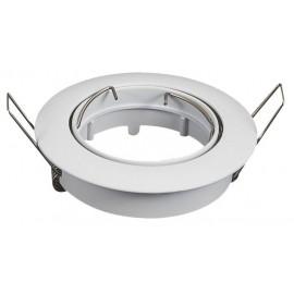 [Ibérica de Iluminación]Aro blanco orientable circular para dicroica LED GU10 - MR16