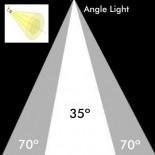 [Ibérica de Iluminación]Foco LED 30W NORA Negro para Carril Monofásico 35º