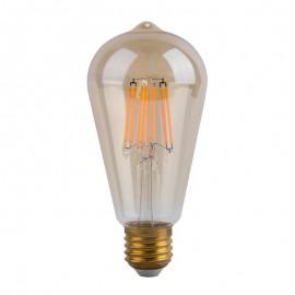 [Ibérica de Iluminación]Bombilla LED Filamento Vintage 6W E27 Gold ST64