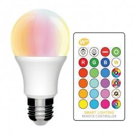 [Ibérica de Iluminación]Bombilla LED RGB+W 10W 270º E27 con Mando a Distancia