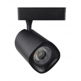 [Ibérica de Iluminación]Foco LED 40W  LYDIA Negro para Carril Monofásico 24º CRI +90