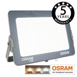 [Ibérica de Iluminación]Foco Proyector LED 200W COLOR AJUSTABLE AVANCE OSRAM CHIP 3000K-4000K-6000K
