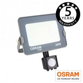 [Ibérica de Iluminación]Foco Proyector LED 30W con Sensor Movimiento PIR AVANCE OSRAM Chip