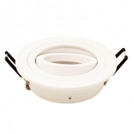 [Ibérica de Iluminación]Aro circular Orientable para dicroica LED GU10  MR16 - Aluminio