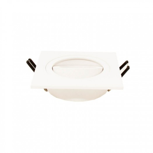 [Ibérica de Iluminación]Aro cuadrado Orientable para dicroica LED GU10  MR16 - Aluminio
