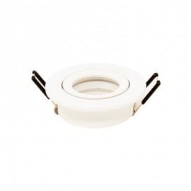 [Ibérica de Iluminación]Aro circular Orientable blanco para LED GU10  MR16 - Aluminio