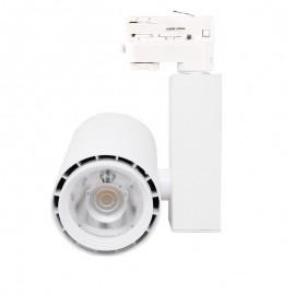 [Ibérica de Iluminación]Foco LED 40W BERLIN Blanco Carril Trifásico CRI +90 UGR17
