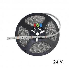 [Ibérica de Iluminación]Tira LED RGB Flexible Exterior 14.4W*5m - 24V IP65