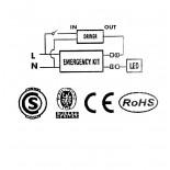 [Ibérica de Iluminación]Kit de conversion a Emergencia de luminaria LED - Max.50W