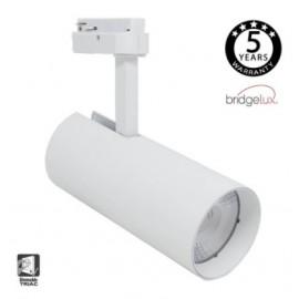 [Ibérica de Iluminación]Foco LED 30W MAYA Blanco  para Carril Monofásico  DOB Driverless 24º