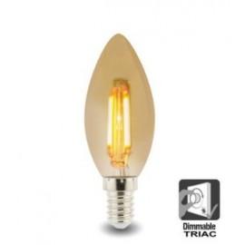 Bombilla LED Filamento Vela 4W E14 Dimable