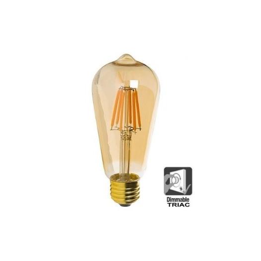 Bombilla LED Filamento Vintage 7W E27 Gold Dimable