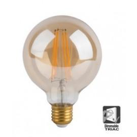 Bombilla LED Filamento Vintage 7W E27 G125 - Dimable