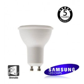 [Ibérica de Iluminación]Dicroica LED SMD 6W SAMSUNG REGULABLE 45º GU10 5 Años de Garantía