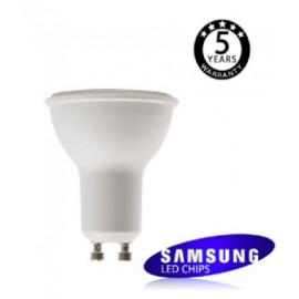 [Ibérica de Iluminación]Dicroica LED SMD 6W SAMSUNG 45º GU10 5 Años de Garantía
