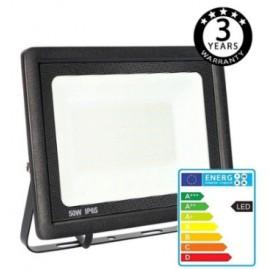 [Ibérica de Iluminación]Foco Proyector Exterior Negro LED 50W ACTION IP65