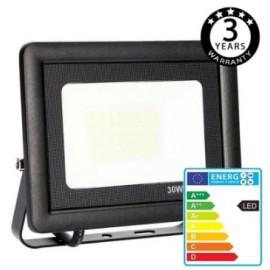 [Ibérica de Iluminación]Foco Proyector Exterior Negro LED 30W ACTION IP65