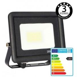 [Ibérica de Iluminación]Foco Proyector Exterior Negro LED 20W ACTION IP65