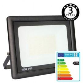 [Ibérica de Iluminación]Foco Proyector Exterior Negro LED 100W ACTION IP65