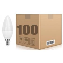 [Ibérica de Iluminación] PACK 100 UD E14 6W VELA