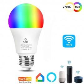 [Ibérica de Iluminación]Bombilla LED 10W SMART Wifi RGB+CCT - A60 Regulable - E27