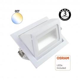 [Ibérica de Iluminación]Foco proyector LED 36W orientable rectangular - 120º