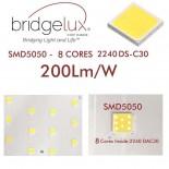 [Ibérica de Iluminación]Módulo Optico LED 50W BRIDGELUX Chip SMD5050 8D para Farola
