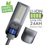 [Ibérica de Iluminación]Farola LED 90W Solar PROFESIONAL - ULTRA SLIM - con Sensor de Movimiento 150lm/W