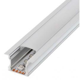 Perfil Aluminio para tira LED 220V. EMPOTRAR