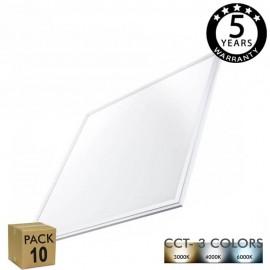 [Ibérica de Iluminación]PACK 10 Panel LED 60x60 cm 40W Marco Blanco - CCT - PACKPRO 10 UND