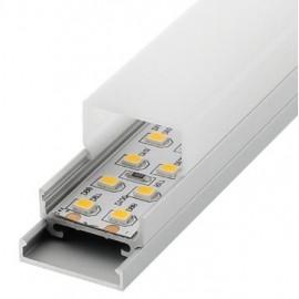 Perfil Aluminio para tira LED 220V. SUPERFICIE/SUSPENSIÓN