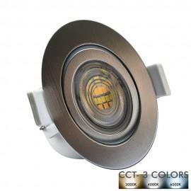 [Ibérica de Iluminación]Empotrable LED 7W Circular - Gris Cromado - CCT