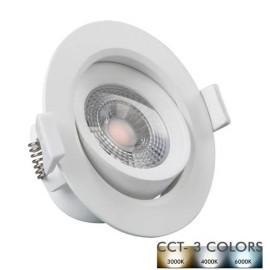 [Ibérica de Iluminación]Empotrable LED 7W Circular Blanco - CCT