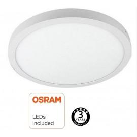 [Ibérica de Iluminación]Plafón LED Superficie Circular 30W - OSRAM CHIP DURIS E 2835