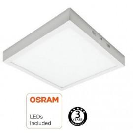 [Ibérica de Iluminación]Plafón LED Superficie Cuadrado 20W - OSRAM CHIP DURIS E 2835