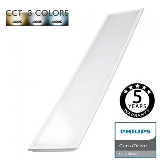 [Ibérica de Iluminación]Panel LED 120X30 cm 44W Certa Driver Philips - CCT